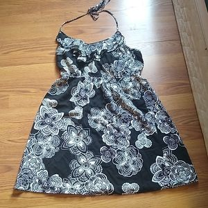 Black and White holter dress size medium